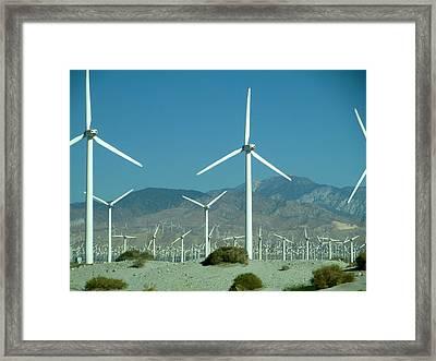 Dance Of The Wind Turbines Framed Print