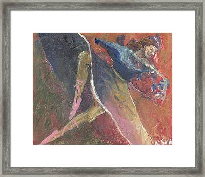 'dance Over Me' Framed Print