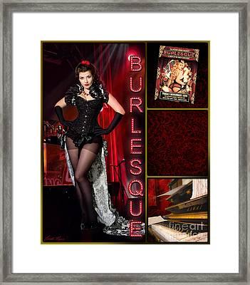 Dance Series - Burlesque Framed Print by Linda Lees