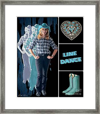 Dance Series - Line Dance Framed Print by Linda Lees