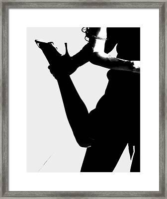Dance Silhouette Framed Print by Doug Walker