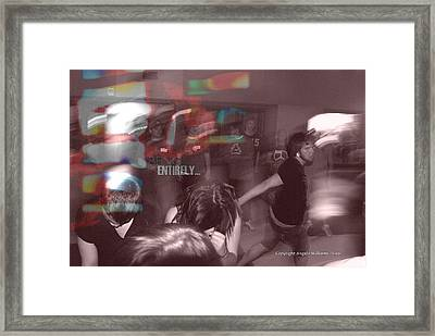Dance Swirl Framed Print