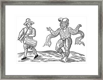 Dance The Morris, 1600 Framed Print