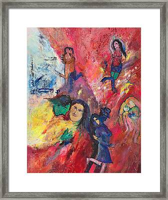 Dance To The Light Fandango Framed Print by Charles Wallis