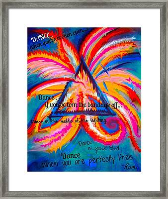 Dance When You're Broken Open Framed Print by Catherine McCoy
