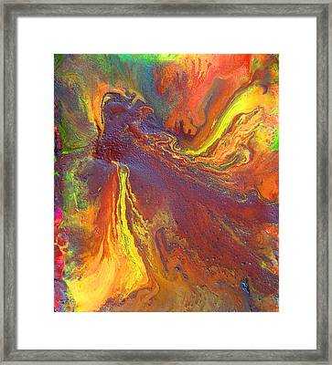 Dance With Colors Framed Print by Julia Apostolova