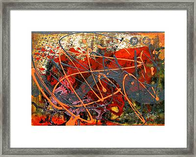 Dance With Dragons Framed Print by Leon Zernitsky
