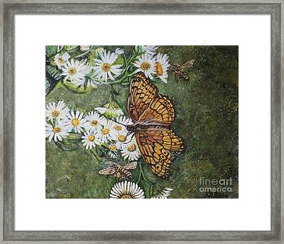 Framed Print featuring the painting Dance With The Daisies by Kimberlee Baxter