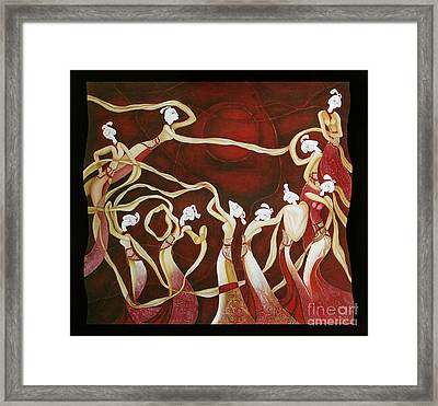 Dance With The Wind Framed Print by Fei A
