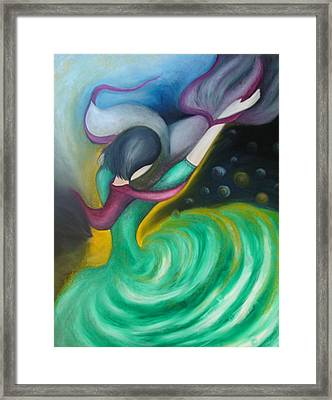 Dance With Wind Framed Print