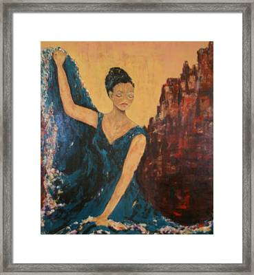 Dance With Your Soul Framed Print by Kathy Peltomaa Lewis