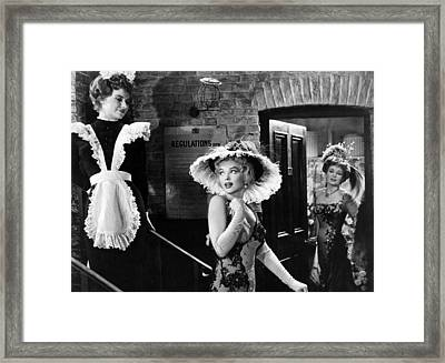 Marilyn Monroe Lights Up Scene Framed Print