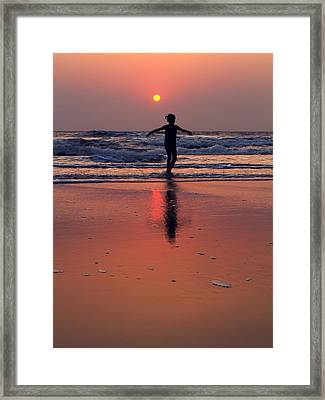 Danceing Sunset Framed Print by Stelios Kleanthous
