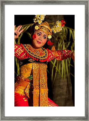Dancer - Bali Framed Print by Matthew Onheiber