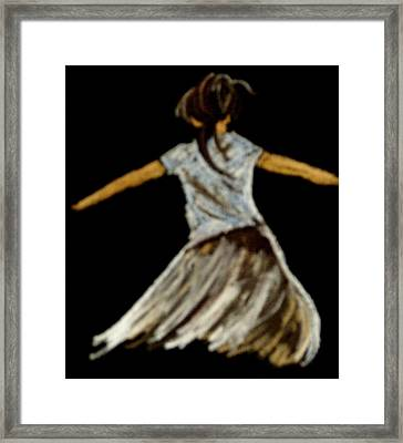 Framed Print featuring the drawing Dancer 2 by Joseph Hawkins
