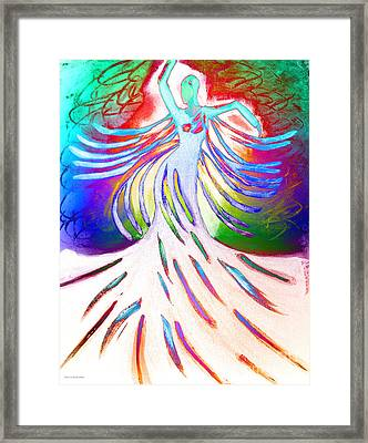 Dancer 4 Framed Print by Anita Lewis