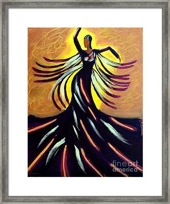 Dancer Framed Print by Anita Lewis