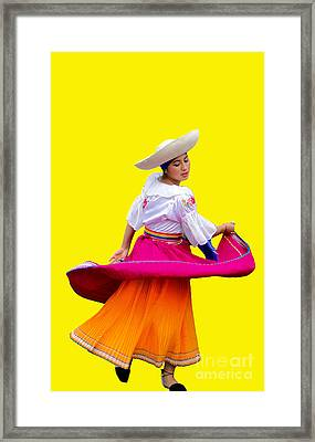 Dancer At Pase Del Nino In Cuenca Ecuador Framed Print by Al Bourassa