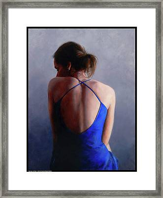 Dancer At Rest Framed Print by Diana Moses Botkin