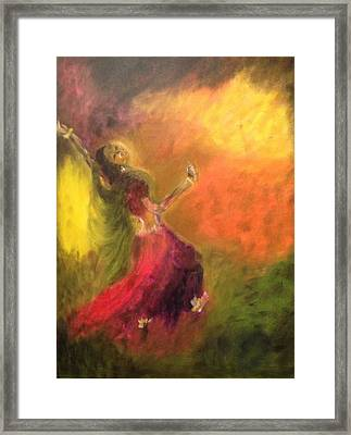 Dancer Framed Print by Brindha Naveen