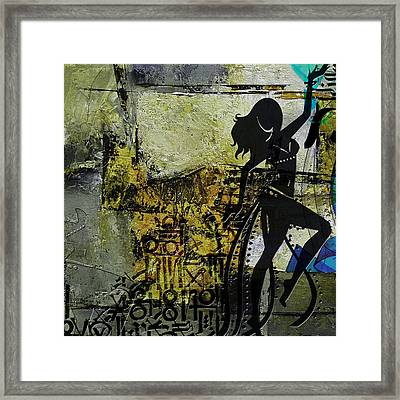 Abstract Belly Dancer 7 Framed Print
