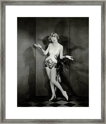 Dancer Frances Williams In The Play Scandals Framed Print by Charles Sheeler