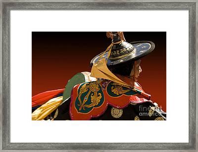 Framed Print featuring the digital art Dancer From Bhutan by Angelika Drake