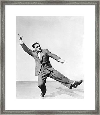 Dancer Gene Kelly Framed Print