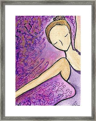 Framed Print featuring the painting Dancer In Electric Pink by Gioia Albano