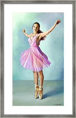 Dancer In Pink Framed Print by Paul Krapf