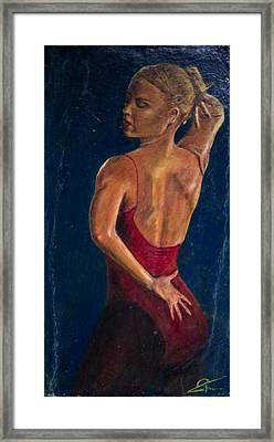 Dancer In Red Framed Print by Peter Turner