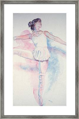 Dancer In Shades Of White Framed Print by Dan Terry