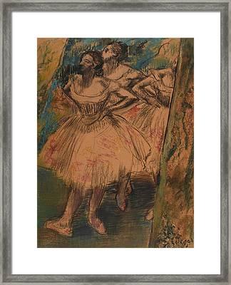 Dancer In The Wing Framed Print by Edgar Degas