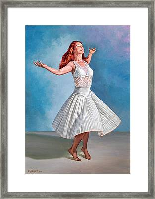 Dancer In White Framed Print