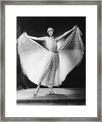 Dancer Irene Castle Freman Framed Print by Underwood Archives
