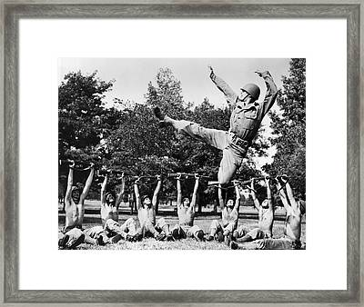 Dancer Jose Limon Leaps High Framed Print by Underwood Archives
