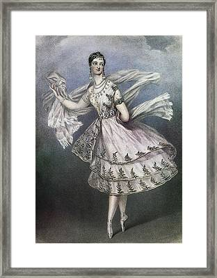Dancer Maria Taglioni In The Ballet Le Framed Print by Everett