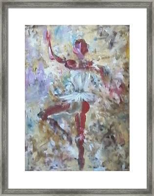 Dancer Red Framed Print by Giuseppe Cavallo
