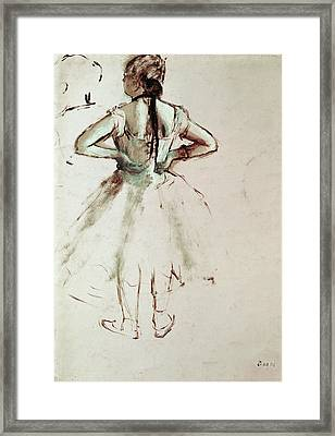 Dancer Viewed From The Back Framed Print by Edgar Degas