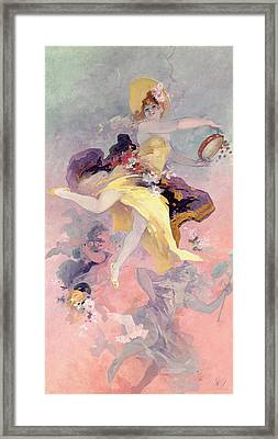 Dancer With A Basque Tambourine Framed Print