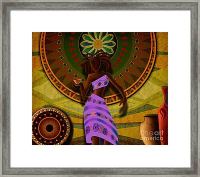 Dancer With Cup Framed Print by Bedros Awak