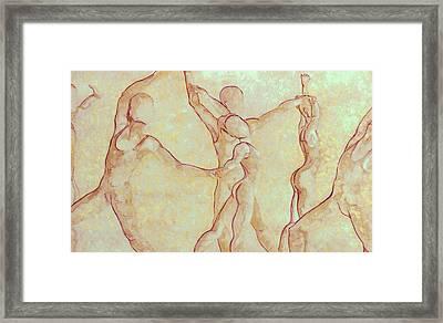 Dancers - 10 Framed Print by Caron Sloan Zuger