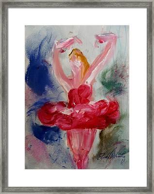 Dancers 133 Framed Print by Edward Wolverton