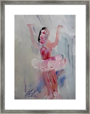 Dancers 134 Framed Print by Edward Wolverton