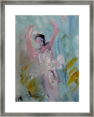 Dancers 140 Framed Print by Edward Wolverton