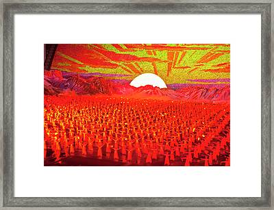 Dancers And Acrobats At Arirang, Mass Framed Print by Michael Runkel