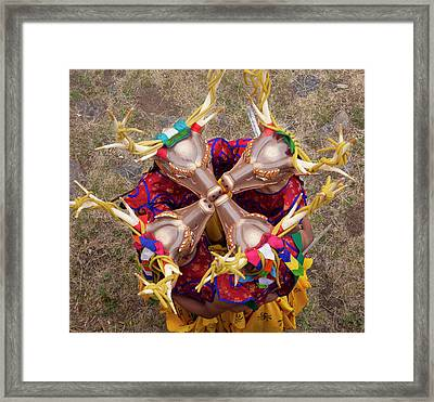 Dancers At The Paro Festival, Bhutan Framed Print
