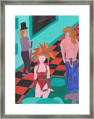 Dancers Classed Framed Print by Barbara St Jean