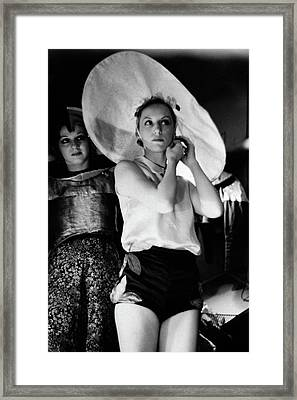 Dancers In A Dressing Room At Radio City Music Framed Print