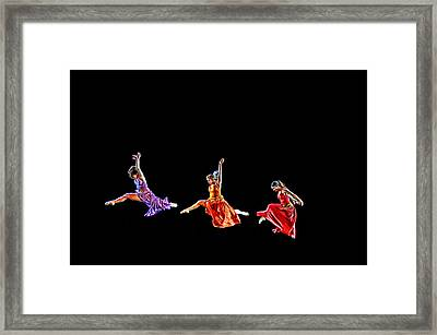 Dancers In Flight Framed Print